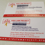 AIDS Law Project business cards