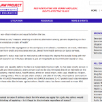 AIDS Law Project, content specific to the issue of Discrimination (Drupal)