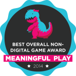 Cops and Rubbers: 2014 Meaningful Play award for Best Overall Non-Digital Game