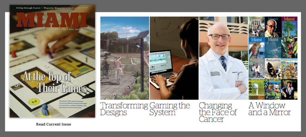 Miami Magazine featuring UM's Interactive Media program and game projects